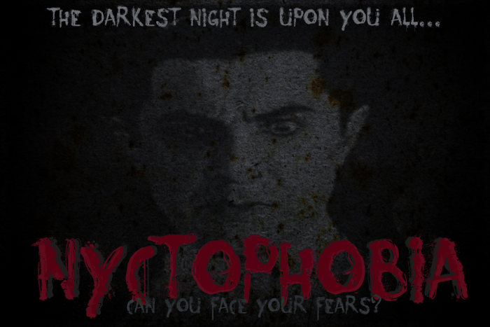 Nyctophobia Font poster