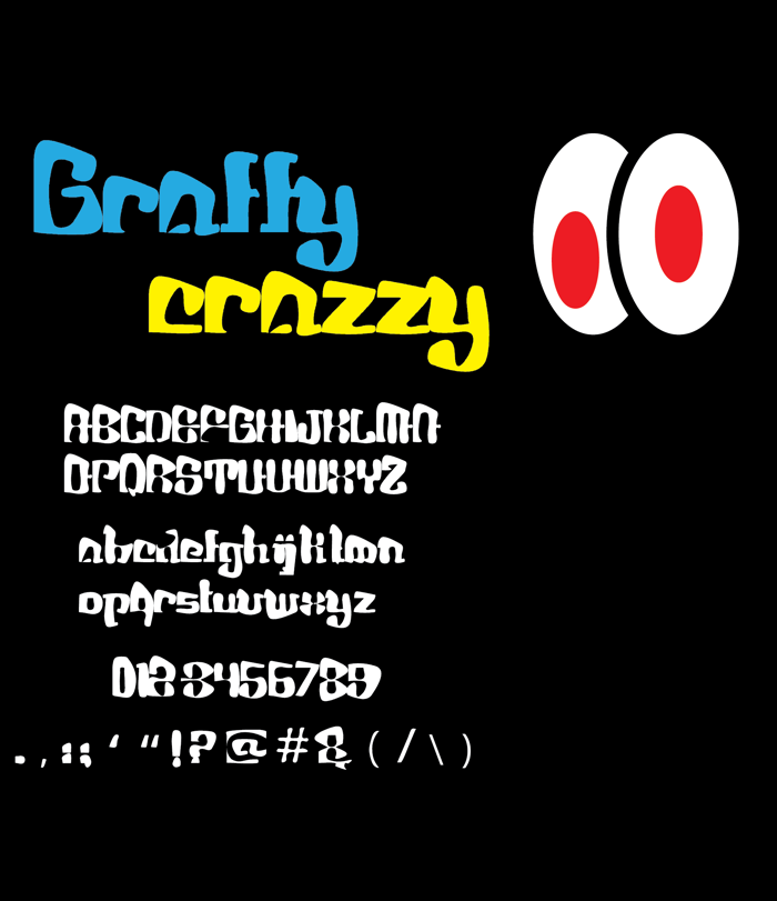 Graffy Crazzy Font poster