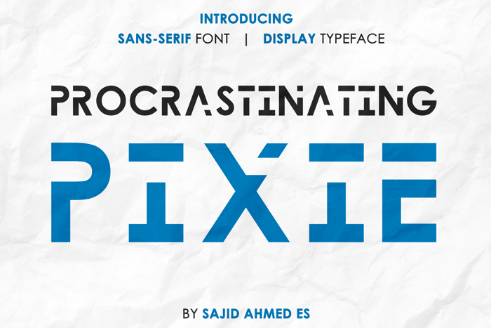 Procrastinating Pixie Font poster