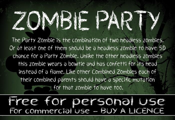 CF Zombie Party Font