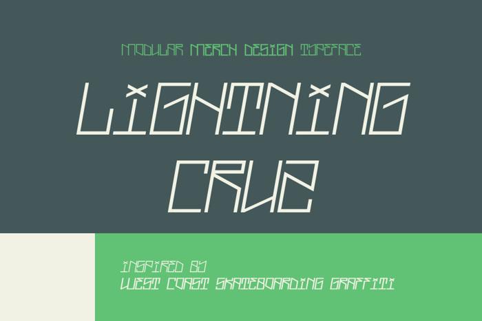 Lightning Cruz Font poster