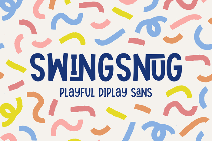 Swingsnug Font poster