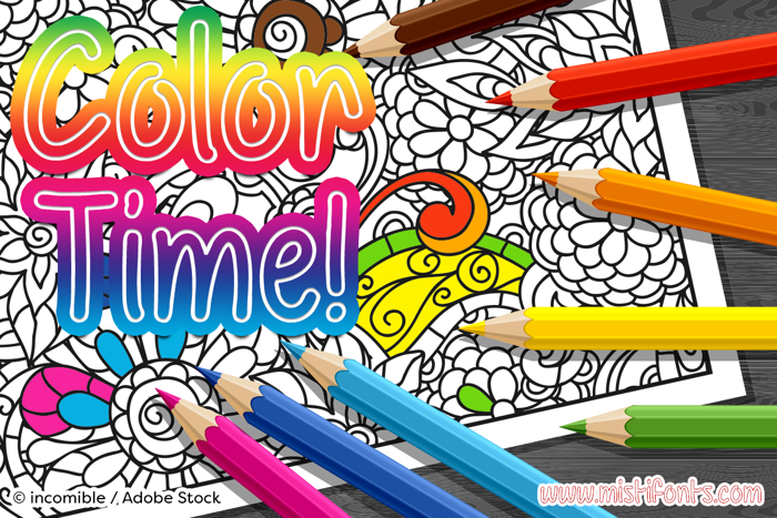 Color Time Font poster