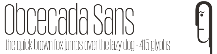 Obcecada Sans Font poster