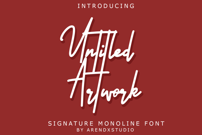 Untitled Artwork Font poster