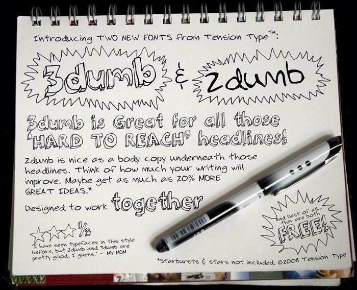 2Dumb Font poster
