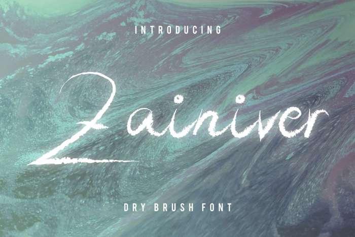 Zainiver Font poster