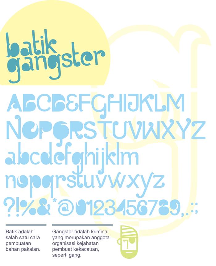 Batik Gangster poster