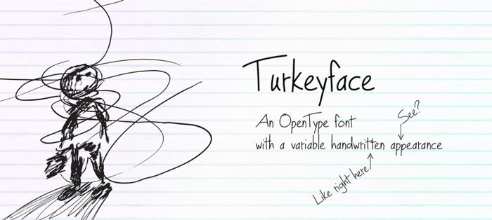 Turkeyface Font poster