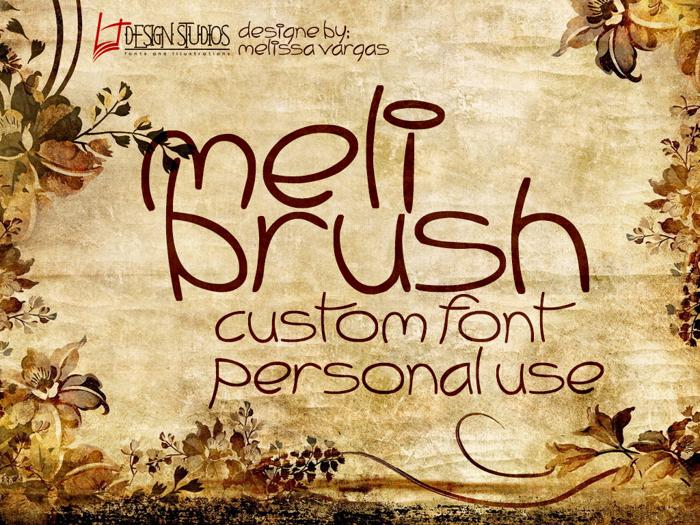 Meli Brush Font poster