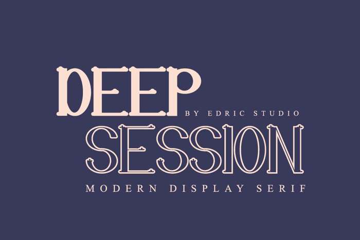 Deep Session Font poster
