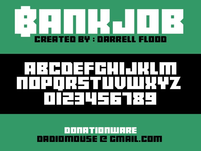 Bankjob Font poster