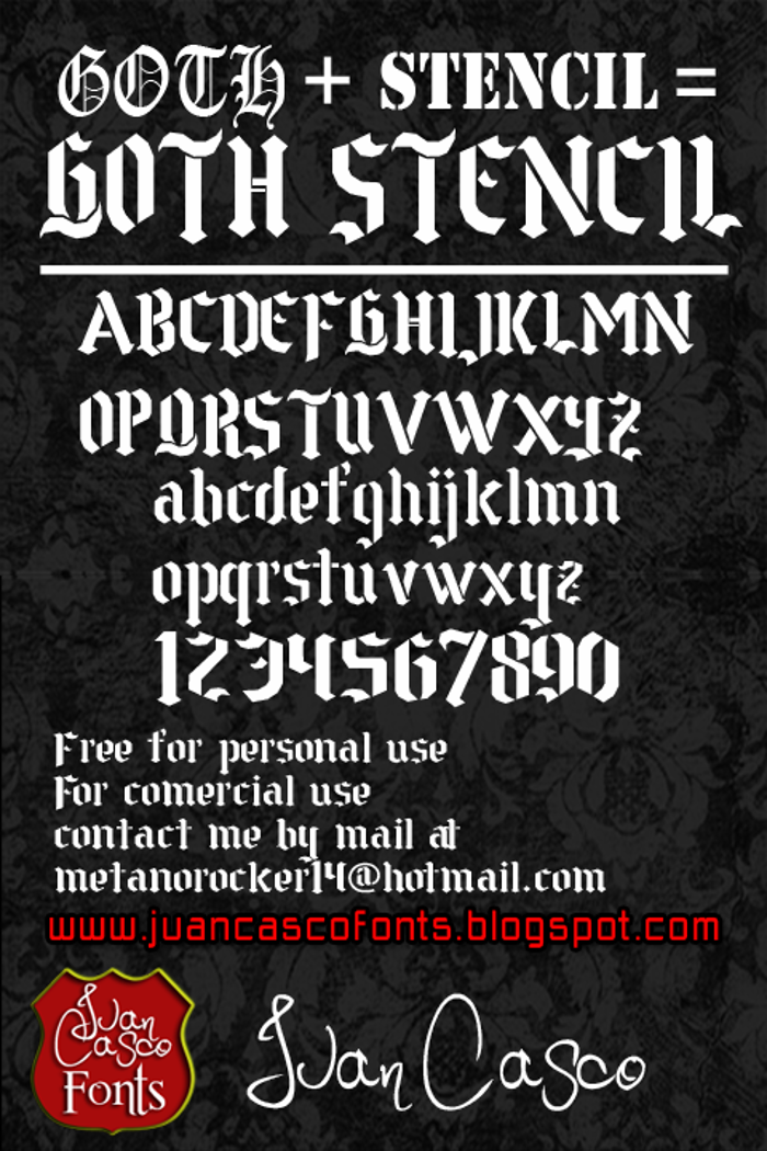 Goth Stencil Font poster