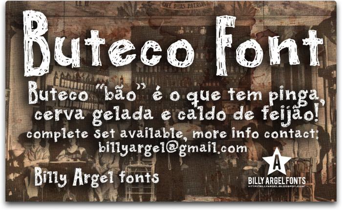 BUTECO  Font poster