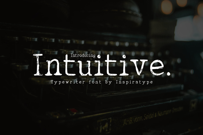 INTUITIVE Font poster