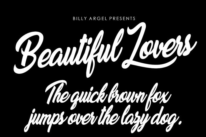 Beautiful Lovers Font poster