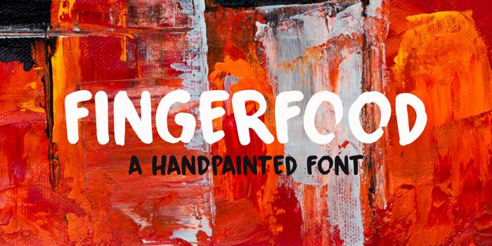 Fingerfood DEMO Font poster