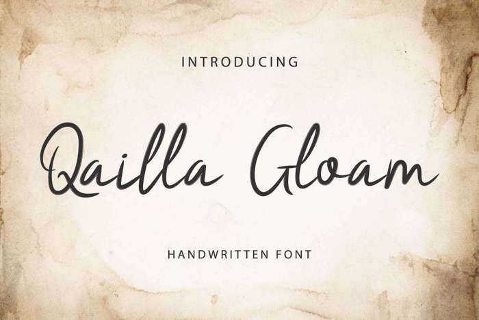 Qailla Gloam Font poster