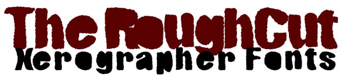 RoughCut Font poster