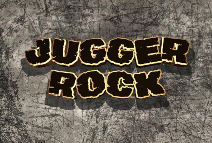 Jugger Rock Font poster