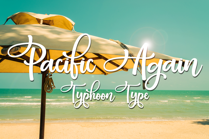 Pacific Again Font poster