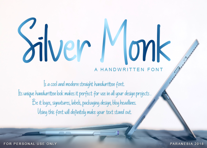 Silver Monk Font poster