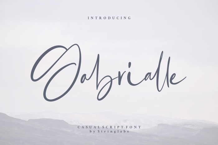 Gabrialle Font poster
