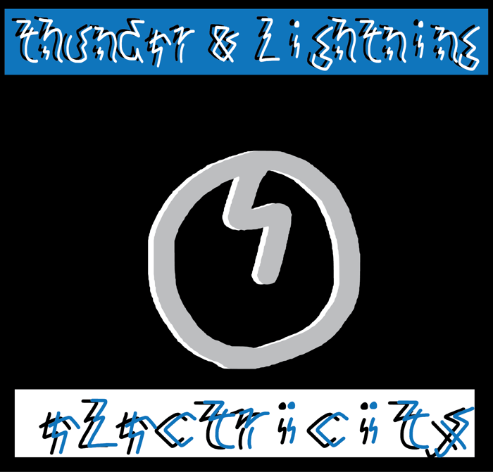 thunder and lightning Font poster
