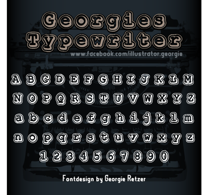 Georgies_Typewriter Font poster