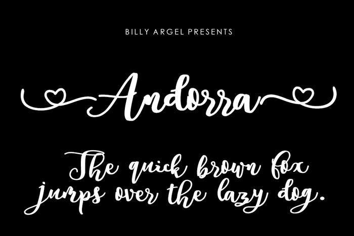 Andorra Font poster