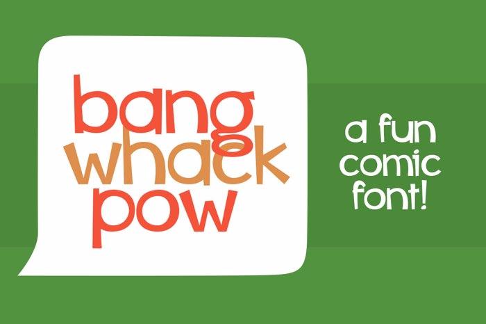 Bang Whack Pow Font poster
