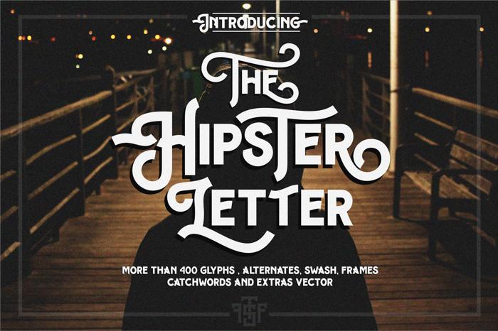 Hipster Letter Font poster