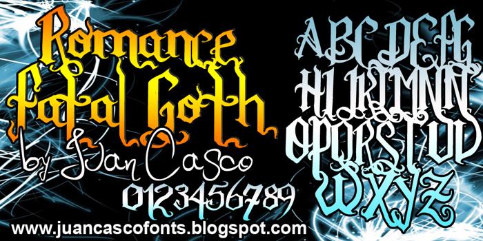 Romance Fatal Goth Font poster