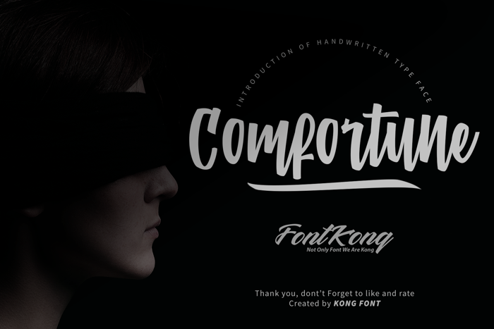 Comfortune Font poster