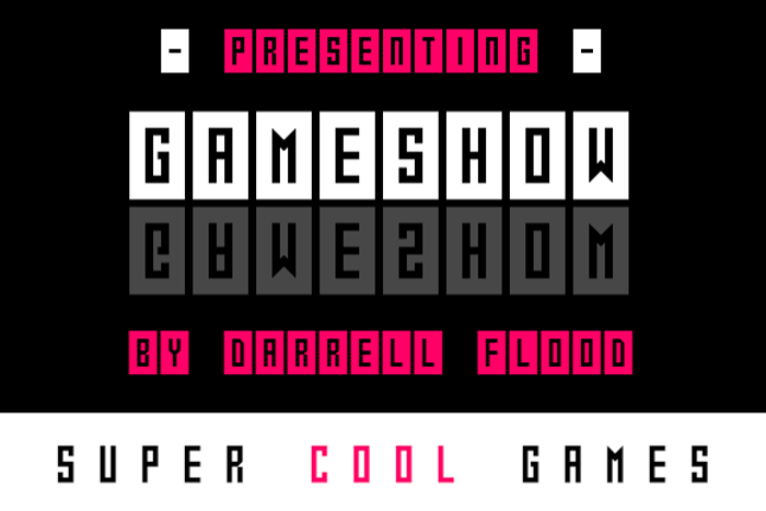 Gameshow Font poster