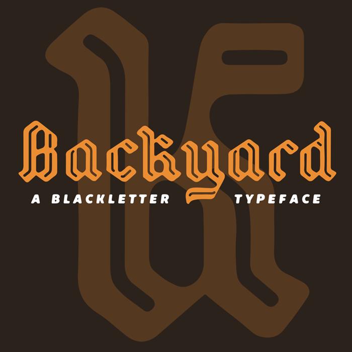 Backyard Font poster