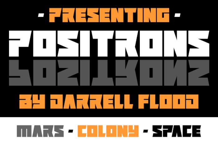 Positrons Font poster