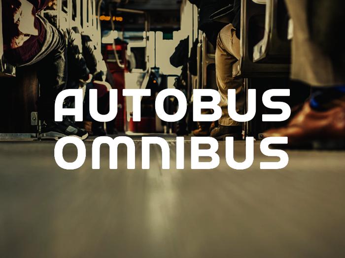 a Autobus Omnibus Font poster