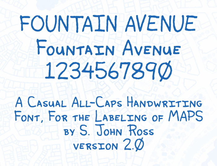 Fountain Avenue Font poster