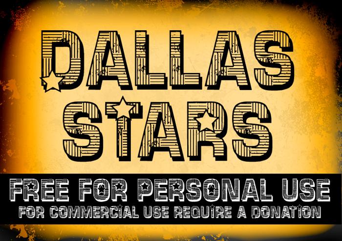 CF Dallas Stars Font poster