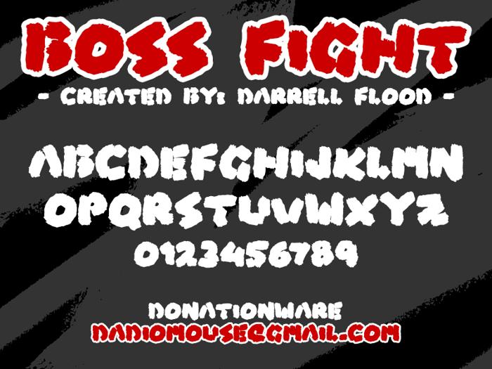 Boss Fight Font poster