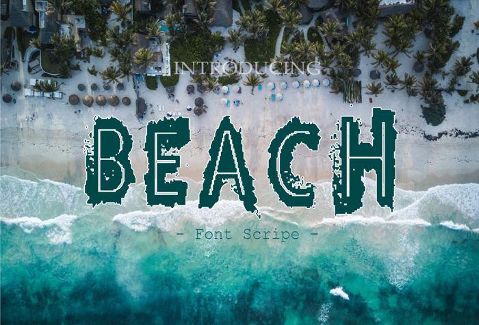 Beach Font poster