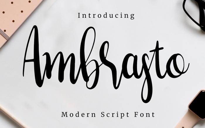 Ambrasto Font poster