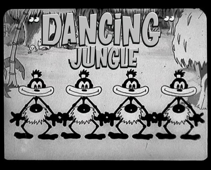 DANCING JUNGLE Font poster