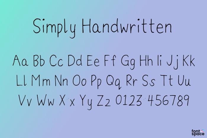 Simply Handwritten Font poster