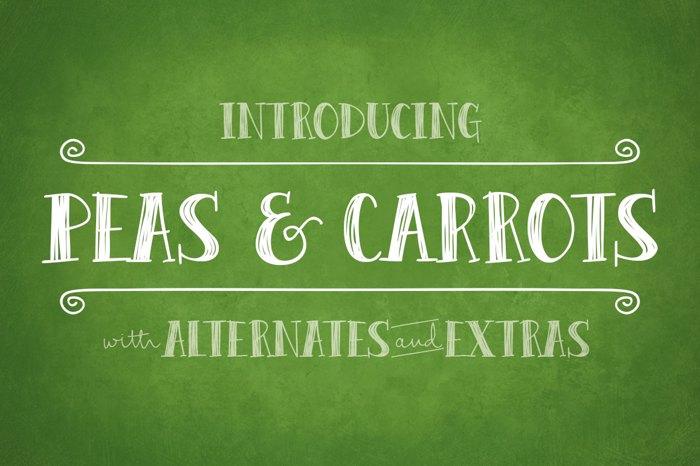 Peas & Carrots Font poster