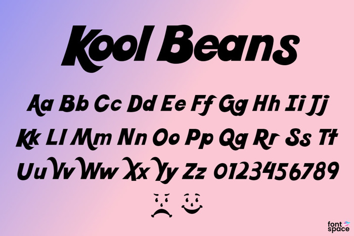 Kool Beans Font poster