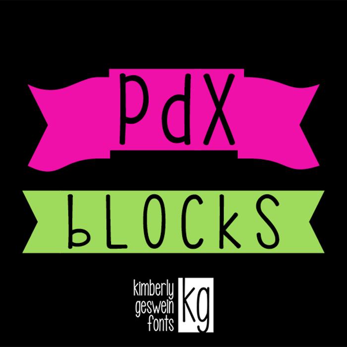 KG PDX Blocks Font poster