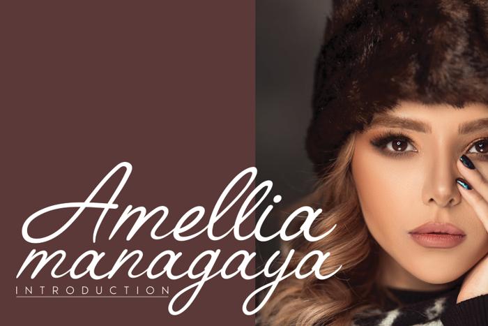 Amellia Font poster