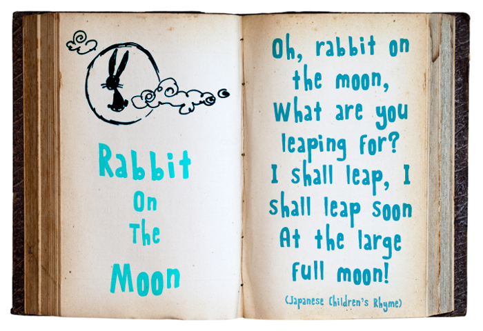 Rabbit On The Moon Font poster